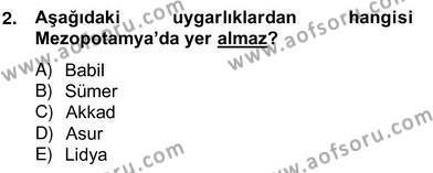 Kültürel Miras ve Turizm Bölümü 4. Yarıyıl Sanat Tarihi Dersi 2014 Yılı Bahar Dönemi Ara Sınavı 2. Soru