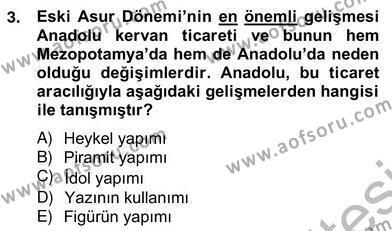 Kültürel Miras ve Turizm Bölümü 4. Yarıyıl Sanat Tarihi Dersi 2014 Yılı Bahar Dönemi Ara Sınavı 3. Soru