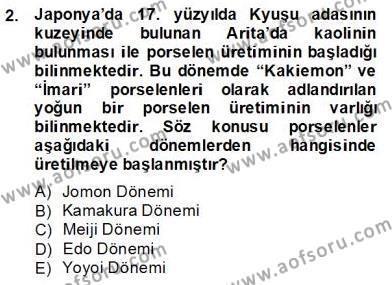 Tarih Bölümü 8. Yarıyıl Sanat Tarihi Dersi 2014 Yılı Bahar Dönemi Dönem Sonu Sınavı 2. Soru