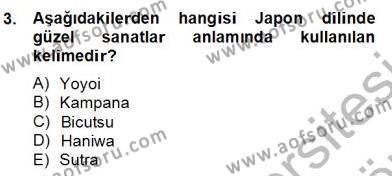 Sanat Tarihi Dersi 2013 - 2014 Yılı Dönem Sonu Sınavı 3. Soru