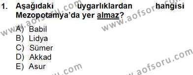 Kültürel Miras ve Turizm Bölümü 4. Yarıyıl Sanat Tarihi Dersi 2014 Yılı Bahar Dönemi Tek Ders Sınavı 1. Soru