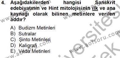 Kültürel Miras ve Turizm Bölümü 4. Yarıyıl Sanat Tarihi Dersi 2014 Yılı Bahar Dönemi Tek Ders Sınavı 4. Soru