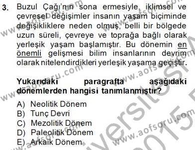 Kültürel Miras ve Turizm Bölümü 4. Yarıyıl Sanat Tarihi Dersi 2015 Yılı Bahar Dönemi Ara Sınavı 3. Soru