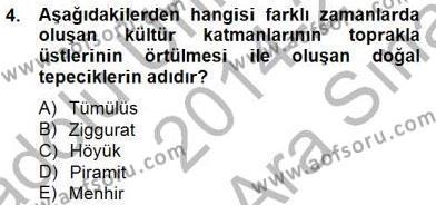 Sanat Tarihi Dersi 2014 - 2015 Yılı Ara Sınavı 4. Soru