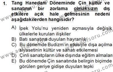 Tarih Bölümü 8. Yarıyıl Sanat Tarihi Dersi 2015 Yılı Bahar Dönemi Dönem Sonu Sınavı 1. Soru