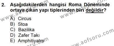 Sanat Tarihi Dersi 2014 - 2015 Yılı Dönem Sonu Sınavı 2. Soru