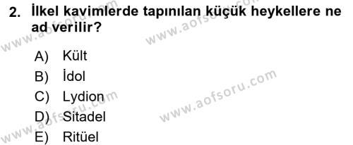 Sanat Tarihi Dersi 2017 - 2018 Yılı (Final) Dönem Sonu Sınav Soruları 2. Soru