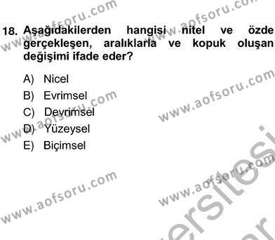 İngilizce Öğretmenliği Bölümü 2. Yarıyıl Eğitim Sosyolojisi Dersi 2013 Yılı Bahar Dönemi Ara Sınavı 2. Soru