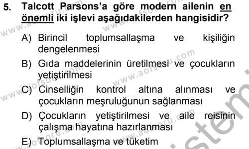 Felsefe Bölümü 1. Yarıyıl Sosyal Bilimlerde Temel Kavramlar Dersi 2013 Yılı Güz Dönemi Ara Sınavı 5. Soru