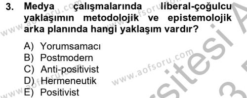 İnsan ve Toplum Dersi 2012 - 2013 Yılı Dönem Sonu Sınavı 3. Soru
