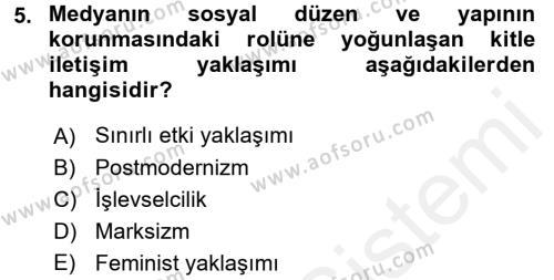 Maliye Bölümü 2. Yarıyıl İnsan ve Toplum Dersi 2016 Yılı Bahar Dönemi Ara Sınavı 5. Soru