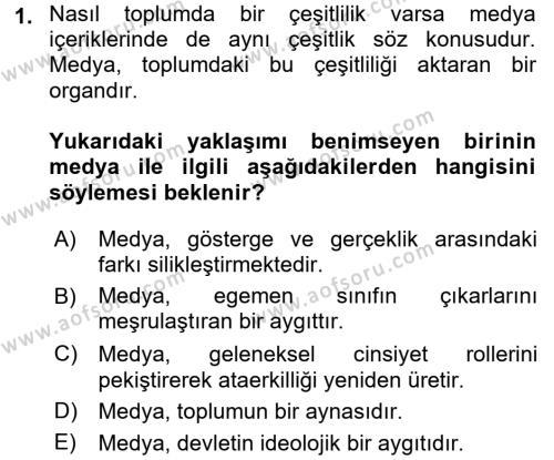 İnsan ve Toplum Dersi Ara Sınavı Deneme Sınav Soruları 1. Soru