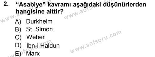 Davranış Bilimleri 1 Dersi 2012 - 2013 Yılı Dönem Sonu Sınavı 2. Soru