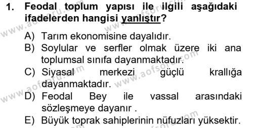 Sosyal Sorunlar Dersi 2012 - 2013 Yılı Ara Sınavı 1. Soru