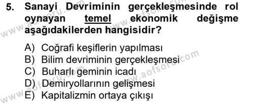 Sosyal Bilimler Bölümü 2. Yarıyıl Sosyal Sorunlar Dersi 2013 Yılı Bahar Dönemi Ara Sınavı 5. Soru