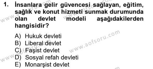 Sosyal Sorunlar Dersi 2013 - 2014 Yılı Ara Sınavı 1. Soru