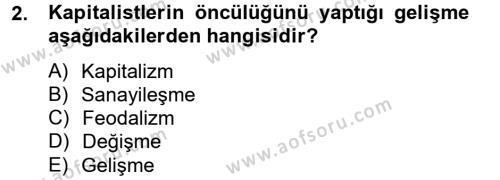 Sosyal Sorunlar Dersi 2013 - 2014 Yılı Ara Sınavı 2. Soru