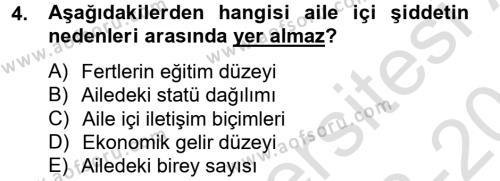 Sosyal Bilimler Bölümü 2. Yarıyıl Sosyal Sorunlar Dersi 2014 Yılı Bahar Dönemi Tek Ders Sınavı 4. Soru