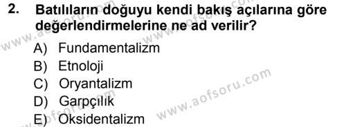 Kültürel Miras ve Turizm Bölümü 3. Yarıyıl Antropoloji Dersi 2013 Yılı Güz Dönemi Ara Sınavı 2. Soru