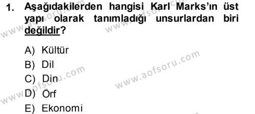 Kültürel Miras ve Turizm Bölümü 1. Yarıyıl Davranış Bilimlerine Giriş Dersi 2014 Yılı Güz Dönemi Ara Sınavı 1. Soru