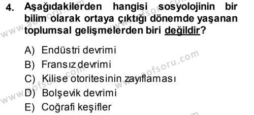 Kültürel Miras ve Turizm Bölümü 1. Yarıyıl Davranış Bilimlerine Giriş Dersi 2014 Yılı Güz Dönemi Ara Sınavı 4. Soru