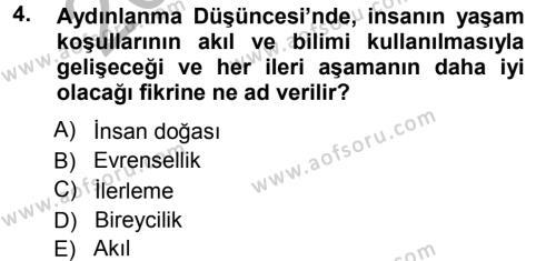 Toplumsal Değişme Kuramları Dersi 2012 - 2013 Yılı Ara Sınavı 4. Soru