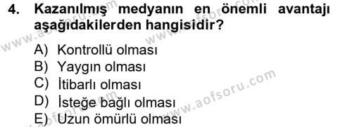 Fotoğrafçılık ve Kameramanlık Bölümü 4. Yarıyıl Sosyal Medya Dersi 2013 Yılı Bahar Dönemi Dönem Sonu Sınavı 4. Soru
