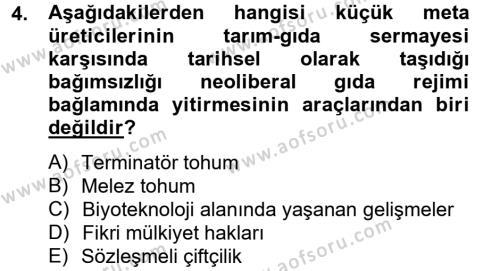 Toplumsal Tabakalaşma ve Eşitsizlik Dersi 2012 - 2013 Yılı (Final) Dönem Sonu Sınav Soruları 4. Soru