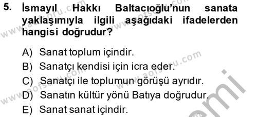 Sosyoloji Bölümü 8. Yarıyıl Türk Sosyologları Dersi 2014 Yılı Bahar Dönemi Dönem Sonu Sınavı 5. Soru