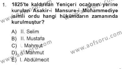Türkiye´de Sosyoloji Dersi 2012 - 2013 Yılı Tek Ders Sınavı 1. Soru