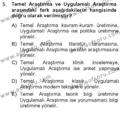 Sosyoloji Bölümü 7. Yarıyıl Türkiye' de Sosyoloji Dersi 2013 Yılı Güz Dönemi Tek Ders Sınavı 5. Soru