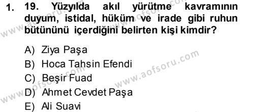 Sosyoloji Bölümü 7. Yarıyıl Türkiye' de Sosyoloji Dersi 2014 Yılı Güz Dönemi Ara Sınavı 1. Soru