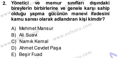Sosyoloji Bölümü 7. Yarıyıl Türkiye' de Sosyoloji Dersi 2014 Yılı Güz Dönemi Ara Sınavı 2. Soru