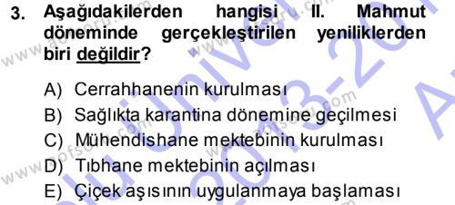 Sosyoloji Bölümü 7. Yarıyıl Türkiye' de Sosyoloji Dersi 2014 Yılı Güz Dönemi Ara Sınavı 3. Soru