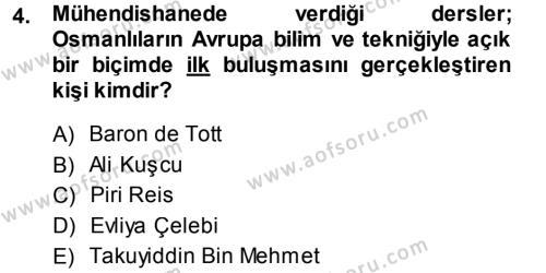 Sosyoloji Bölümü 7. Yarıyıl Türkiye' de Sosyoloji Dersi 2014 Yılı Güz Dönemi Ara Sınavı 4. Soru