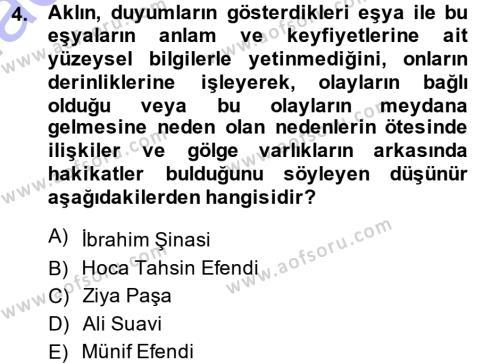 Sosyoloji Bölümü 7. Yarıyıl Türkiye' de Sosyoloji Dersi 2015 Yılı Güz Dönemi Ara Sınavı 4. Soru