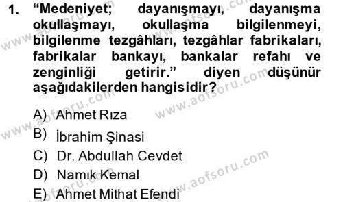 Sosyoloji Bölümü 7. Yarıyıl Türkiye' de Sosyoloji Dersi 2015 Yılı Güz Dönemi Dönem Sonu Sınavı 1. Soru