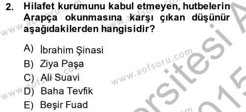 Türkiye´de Sosyoloji Dersi 2014 - 2015 Yılı (Final) Dönem Sonu Sınav Soruları 2. Soru