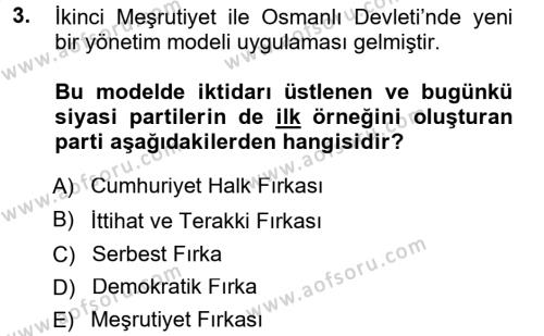 Türkiye´de Sosyoloji Dersi 2014 - 2015 Yılı (Final) Dönem Sonu Sınav Soruları 3. Soru