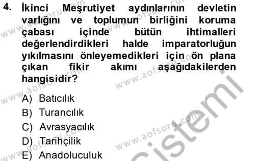 Türkiye´de Sosyoloji Dersi 2014 - 2015 Yılı (Final) Dönem Sonu Sınav Soruları 4. Soru