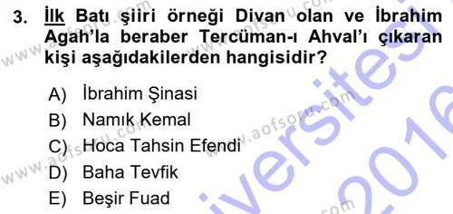 Sosyoloji Bölümü 7. Yarıyıl Türkiye' de Sosyoloji Dersi 2016 Yılı Güz Dönemi Ara Sınavı 3. Soru
