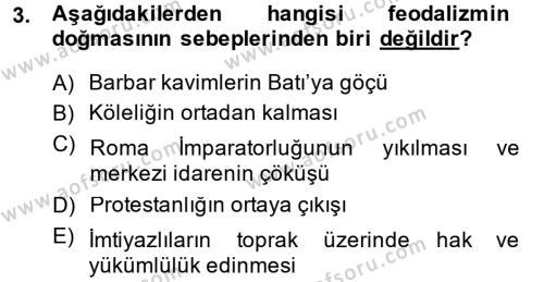 Din ve Toplum Dersi 2013 - 2014 Yılı Dönem Sonu Sınavı 3. Soru