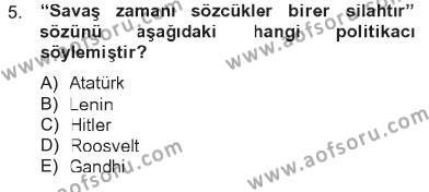 Sosyoloji Bölümü 7. Yarıyıl İletişim Sosyolojisi Dersi 2013 Yılı Güz Dönemi Tek Ders Sınavı 5. Soru