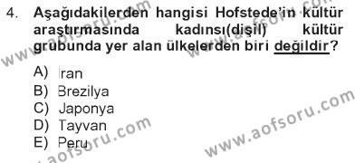 Türkiye´nin Toplumsal Yapısı Dersi 2012 - 2013 Yılı Tek Ders Sınavı 4. Soru