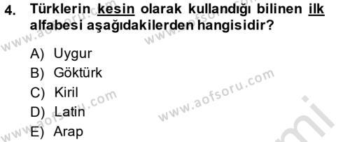 Türkiye´nin Toplumsal Yapısı Dersi 2013 - 2014 Yılı Tek Ders Sınavı 4. Soru