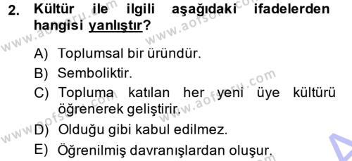 Türkiye´nin Toplumsal Yapısı Dersi 2014 - 2015 Yılı Ara Sınavı 2. Soru