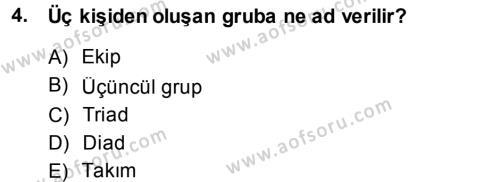 Türkiye´nin Toplumsal Yapısı Dersi 2014 - 2015 Yılı Ara Sınavı 4. Soru