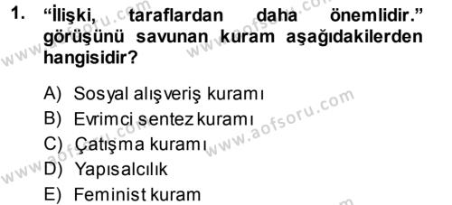 Uluslararası İlişkiler Bölümü 3. Yarıyıl Türkiye' nin Toplumsal Yapısı Dersi 2015 Yılı Güz Dönemi Dönem Sonu Sınavı 1. Soru