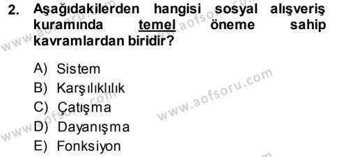 Türkiye´nin Toplumsal Yapısı Dersi 2014 - 2015 Yılı Dönem Sonu Sınavı 2. Soru