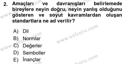 Sosyoloji Bölümü 7. Yarıyıl Türkiye' nin Toplumsal Yapısı Dersi 2016 Yılı Güz Dönemi Ara Sınavı 2. Soru